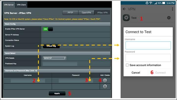 VPN] IPSec VPN setup on Android | Official Support | ASUS Global